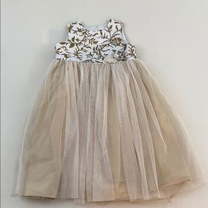 Cherokee Dresses - Girls gold party dress